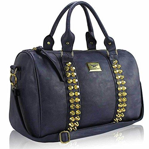 TrendStar Damenmode Obergriff Schulterhandtaschen Kunstleder Für Taschen Von Promi-Stil Marine