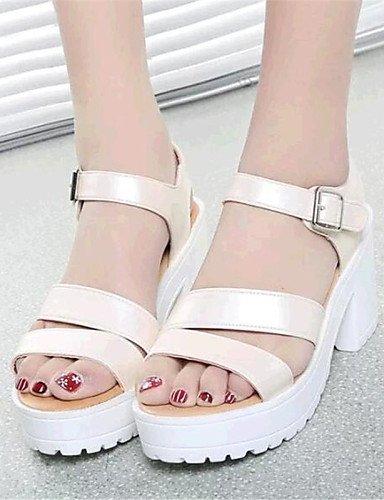 UWSZZ IL Sandali eleganti comfort Scarpe Donna-Sandali-Casual-Creepers-Plateau-Finta pelle-Nero / Blu / Bianco / Beige White