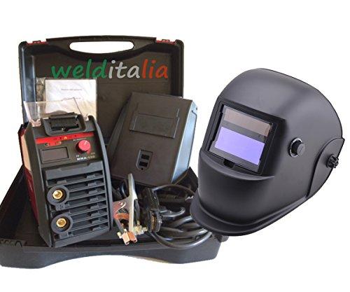 SOLDADOR INVERTER 150A WELDITALIA VALIG CABLES 3+ 2MT  ELECTRODO MASCARA AJUSTABLE LCD GHOST 9/13DIN