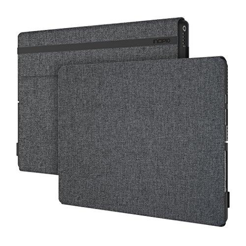 Incipio [Esquire Series] Folio Case Microsoft Surface Pro 6 / Pro (2017) und Pro 4 - Microsoft zertifizierte Schutzhülle [Baumwolle I Kickstand und Type Cover Kompatibel I Halterung Surface Pen] -grau