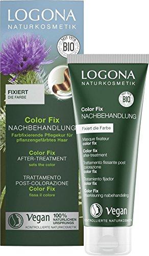 LOGONA Naturkosmetik Color Fix Nachbehandlung, Vegan, 2er Pack(2 x 100 ml)