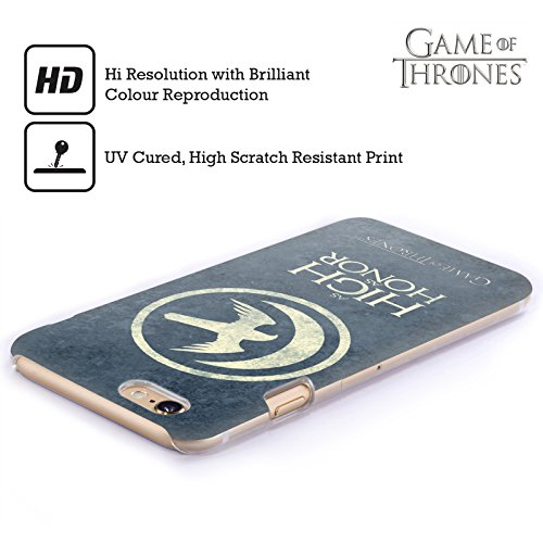Offizielle HBO Game Of Thrones Lannister Dark Distressed Sigils Ruckseite Hülle für Apple iPhone 6 Plus / 6s Plus Arryn