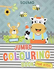Amazon Brand - Solimo Blossom Jumbo Creative Colouring Book for Kids, Level 2