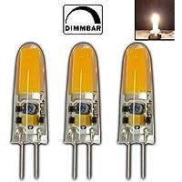 PB-Versand 3 lampadine alogene di ricambio G4 mini LED, 2 Watt, 12 V AC/DC, bianco caldo, in silicone (gel di silice), dimmerabili