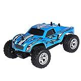Kinder RC Auto Geländewagen mit Fernbedienung Elektrische Spielzeug Wagen Racing Offroad Autos mit USB-Kabel ( Farbe : Blau )