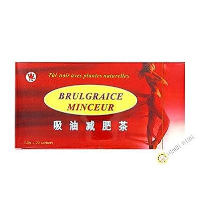 Thé noir amincissant BRULE GRAISSE 20x1,5g Chine - Pack de 3 pcs