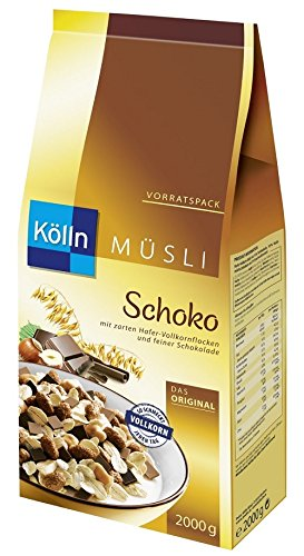 Kölln Müsli Schoko, 1er Pack (1 x 2 kg) (Schoko-haferflocken)
