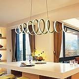 KESAI HomeDeco LED Moderne Pendelleuchte, Insel Deckenbeleuchtung Acryl Spirale Hängelampe Esstisch Kronleuchter, weiße hängende Leuchte für Wohnzimmer,100CM