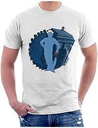 Cloud City 7 7th Doctor Who Silhouette Sylvester McCoy Tardis Men's T-Shirt