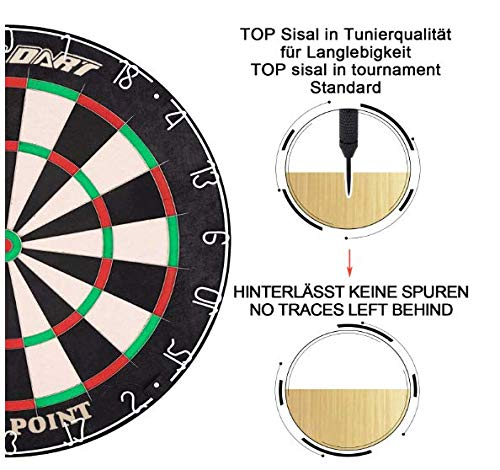 WIN.MAX Bristle Steel Dartboard - 5