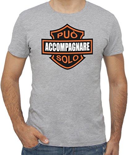 New Indastria T-Shirt Harley può ACCOMPAGNARE Solo by Uomo-XXL-Grigio Sport