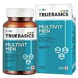 TrueBasics Multivit Men One Daily, Multivitamins, Multiminerals, Omega-3, Nutrition Supplement for Energy, Immunity