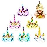 Tumao Arc-en-Un Licorne Masques, Licorne Parti Fournitures, pour Enfants fête d'anniversaire, Les Jouets d'enfants (12 pcs)
