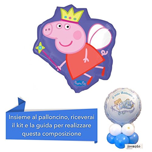 Centrotavola-con-pallocino-mylar-PEPPA-PIG-sagomato-58-cm