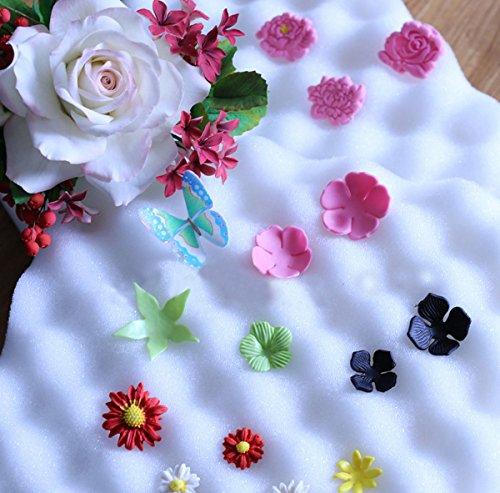 Preisvergleich Produktbild 2ST Fondant Kuchen Werkzeuge Fondant Blumen gestalten Schwamm Pad Kuchen Formen fŸr die KŸche, Backen, Kuchen dekorieren