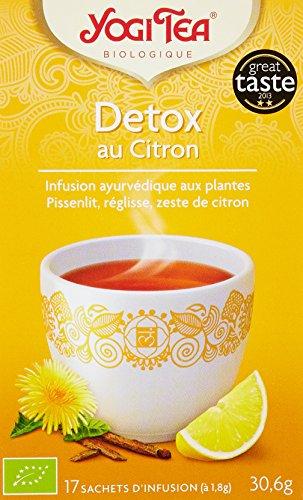 Yogi Tea Infusion Bio Detox au Citron 17 sachets