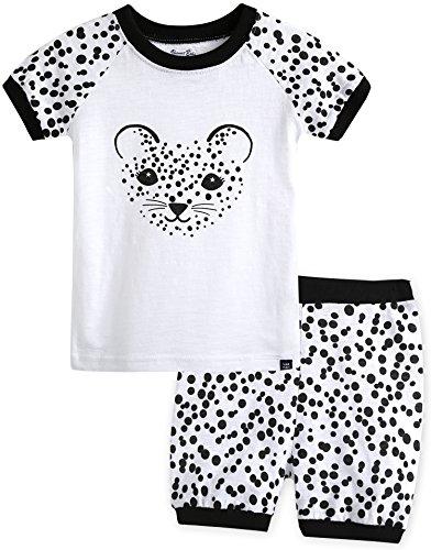 Vaenait baby 74-120 Kinder Jungen 2pcs Bekleidungssets Schlafanzug Black Cheetah M (Kinder Für Cheetah Kleidung)