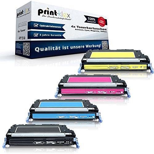 Print-Klex kompatibles XXL Toner Set für HP Color Laserjet 3800 3800DN 3800DTN 3800N CP3505 CP3505DN CP3505N CP3505X CP3505XH Q6470 Q7581 Q7582 Q7583 A (Drucken Reman)