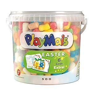 PlayMais 160069 Classic Easter Bucket - Cubo de 5 litros con Aprox. 500 Piezas