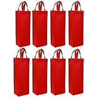Wish You Have A Nice Day 8 unidades papel único bolsa térmica para botella de vino