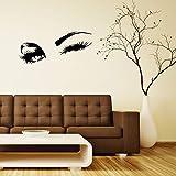 XCGZ Wandsticker Wandtattoo Schöne Charmante Augen Lashes Wink Decor Wandkunst Vinyl Aufkleber Aufkleber Interior Design Schlafzimmer Aufkleber