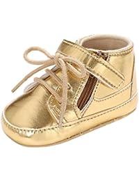 BYSTE Scarpe da Bambino Fibbia Lace-Up Caldo Scarpe Suola Morbida Infantile Sneaker Anti Scivolo Scarpe per Bambini Scarpe da Ginnastica Scarpe Sportive