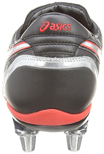 Asics Lethal Charge, Scarpe sportive, Uomo Black/Red/Silver 9023