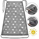 Zamboo Universal Sonnensegel - verstellbarer Kinderwagen Sonnenschutz mit UV Schutz 40| flexibles Sonnenverdeck für Babywanne - Schäfchen