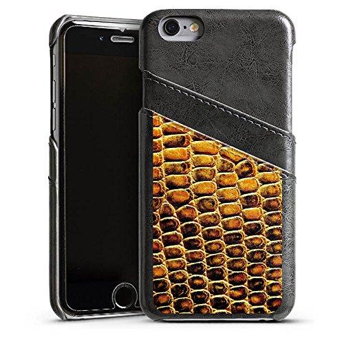 Apple iPhone 6 Housse Étui Silicone Coque Protection Peau de reptile Peau de serpent Look cuir Étui en cuir gris