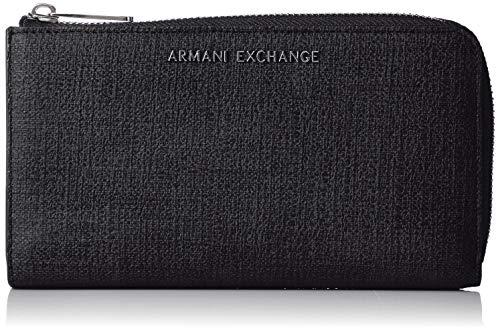 b61f502d653a Armani Exchange - Texturized Round Zip Wallet, Carteras Mujer, Negro (Nero),