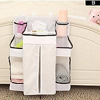 Organizador del cuarto de niños del pañal del bebé, organizador del cambio del panal, bolso colgante de la cama del bebé