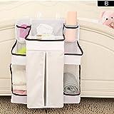 GZQ Babyzimmer Organizer Multifunktions Babybett Reisebett hängende Aufbewahrung Tasche für Stofftiere Windel Windeln Milk Powder Toilettentücher Tissue Handtücher Kleidung