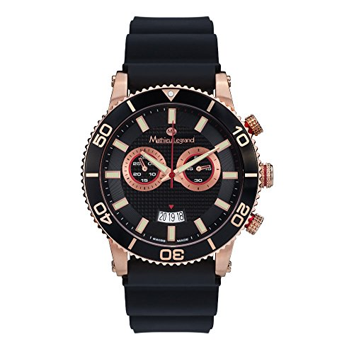 Mathieu legrand MLG-1004C- Reloj de pulsera para caballero, color rosa dorado