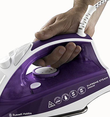 Russell Hobbs Supreme Steam Traditional Iron 23060, 2400 W – Purple/White