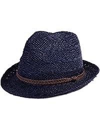 SiggiHat Panama Summer Fedora Trilby Straw Sun Hats For Men Safari Beach Hat  - Foldable f69f1ef235f