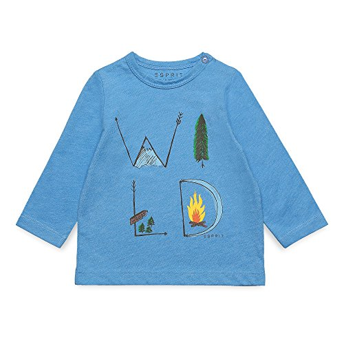 ESPRIT Baby-Jungen Langarmshirt RK10182, Blau (Aqua 466), 92