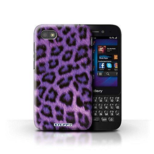 Stuff4® Hülle/Hülle für BlackBerry Q5 / Lila Muster/Leopard Tier Haut/Print Kollektion
