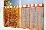 Kamaca Scheibengardine Bistrogardine Magic halbtransparent und lichtdurchlässig (orange, 45x150 cm)