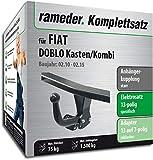 Rameder Komplettsatz, Anhängerkupplung starr + 13pol Elektrik für FIAT DOBLO Kasten/Kombi (113517-08618-6)