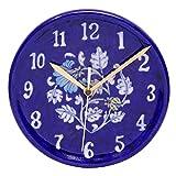 #10: Om Craft Villa Blue Pottery Decorative Ceramic Watch/ Wall Clock