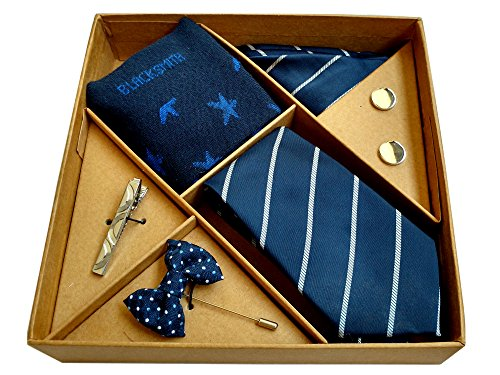 Blacksmith Blue Tie , Cufflink, Pocket Square , Socks , Lapel Pin...