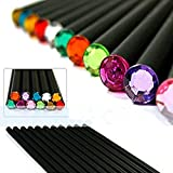 Drawing Pencils/Art Pencils/Sketch Pencils Set,,Black Wood-Cased, schöne glänzende Crystal Tips, Alliswell # 2 HB (12 Count) - Geburtstagsgeschenk Idee / Back To School Essentials