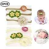 Generic Baby Girl Headbands Set Soft Elastic Nylon Flower Band For Toddler Gift 6 PCS