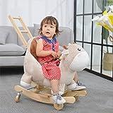QXMEI Trojaner Pferd Schaukelpferd Massivholz Baby-Schaukelstuhl Babyspielzeug 0-3 Jahre Alt
