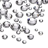 1000 Pieces Clear Flat Back Rhinestones Round Crystal Gems 1.5 mm - 5 mm, 5 Sizes