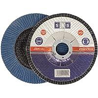 10 Pieza SBS disco arandela 115 mm / Grano 80 Azul Muelas abrasivas Fregona lija