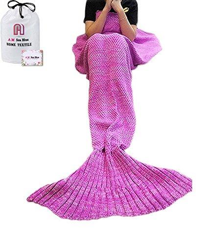 fait-a-la-main-tricote-queue-de-sirene-couverture-divan-couette-salle-a-manger-couverture-sirene-cou