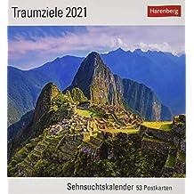 Traumziele Kalender 2021: Sehnsuchtskalender, 53 Postkarten