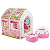 #4: Intex Inflatable Princess Play House with Air Furniture (Girls, 2-6 Years)