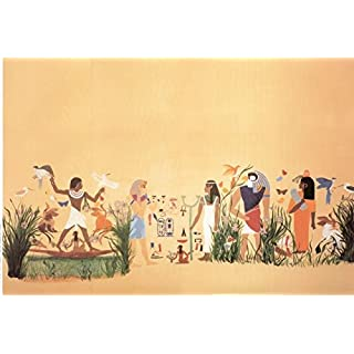 Melody Jane Dolls House Miniature Print 1:12 Scale Egyptienne Egyption Egyptian Wallpaper